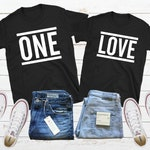 One Love Matching Couple Shirt Personalized Couple Shirt Couple Tshirt Set Couple Streetwear Anniversary Shirt His And Her Shirt Couple Gift