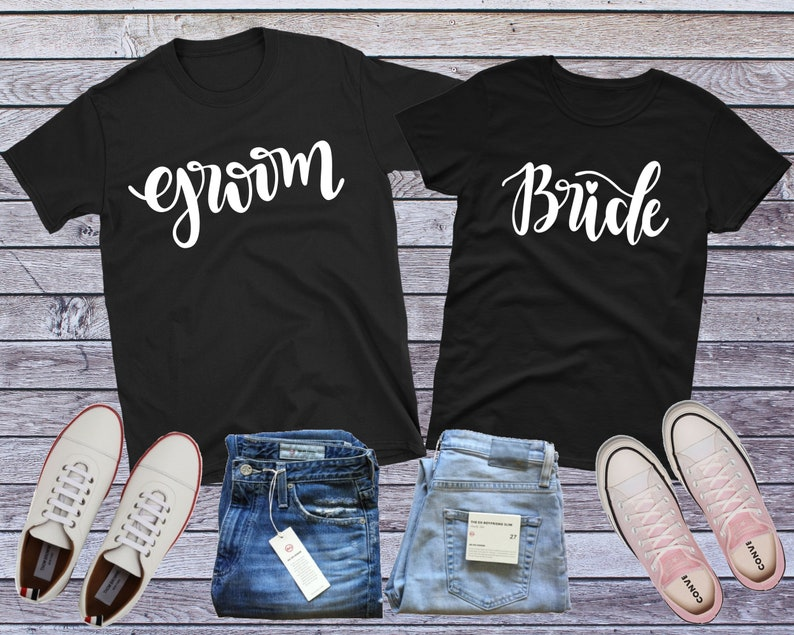 f653263978cc Bride Groom Shirts Wedding Shirts Honeymoon Shirts Hubby