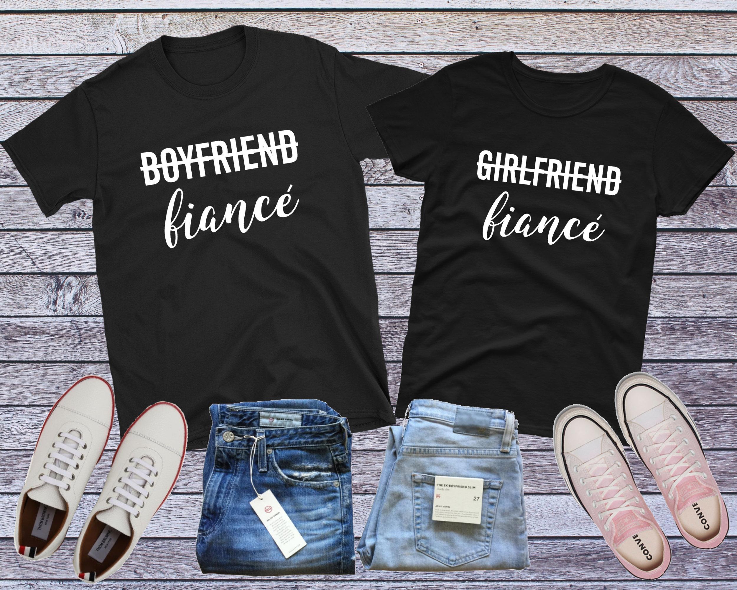5c76464be8 Fiance Couples Shirts Girlfriend Fiance Boyfriend Fiance   Etsy