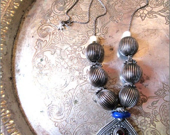 OOAK Silver Tribal Filigree Necklace