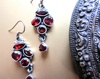 Luscious Organically Shaped Faceted Garnet Dangles