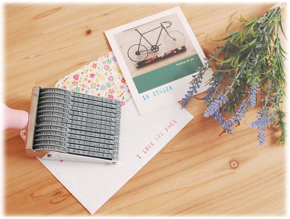 Rolling Stamp V2 Alphabet Number Card Diary Gift