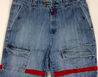 69fdbc5789 Vintage Vtg 90's Marithe Francois Girbaud Men SHUTTLE Tape DEMIN HiP HoP  Baggy Streetwear Shorts 38