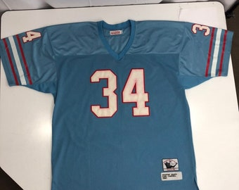 8eaa1f793 Mitchell   Ness 1980 Houston Oilers Earl Campbell NFL THROWBACK Jersey Shirt  56