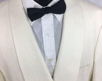 46a5ae83aab Vintage YSL Yves Saint Laurent Men Solid Off White TuX Sport Coat Formal  SHAWL Collar PROM Tuxedo Rockabilly Wedding Jacket Smoking Blazer