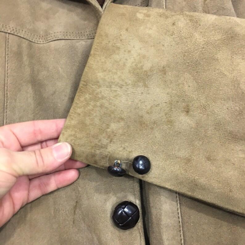 Vintage 60/'s Sears Oakbrook Sportswear Men Brown NUBUCK Leather Sport Coat Deerskin Fleece LINED Jacket 40
