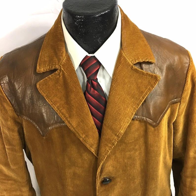 18b643473e1 Vintage 70 s Pioneer Wear Men s Brown Corduroy Leather