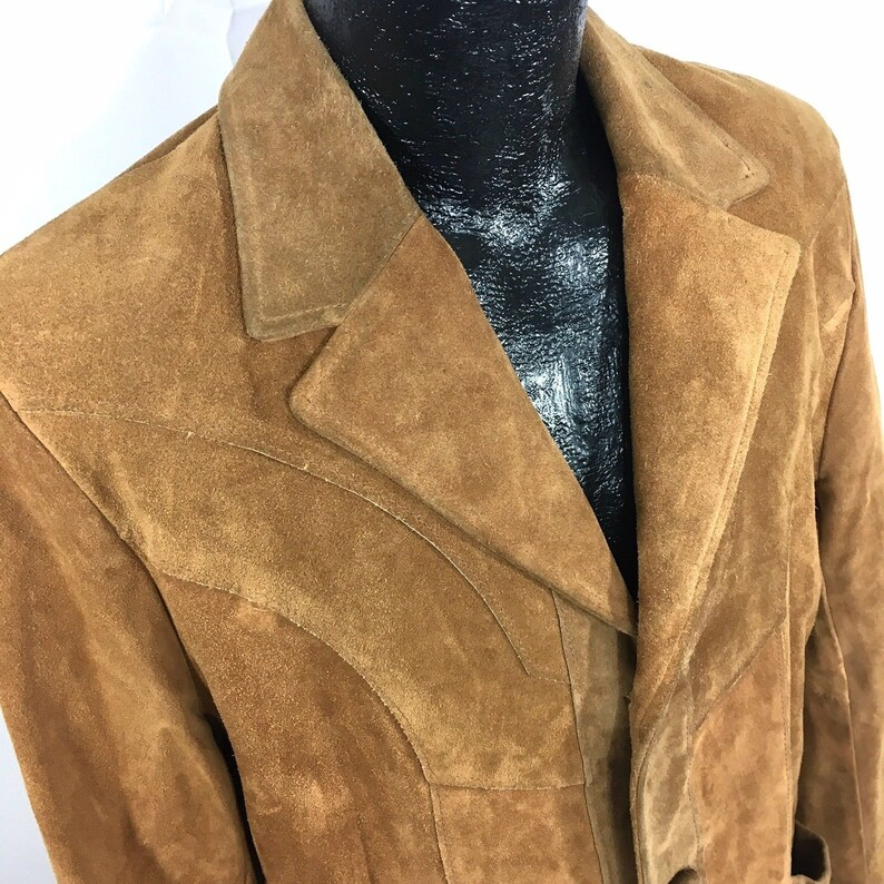 976d051a4e6 Vintage 70 s Pioneer Wear Men Brown MoD HEAVY SUEDE
