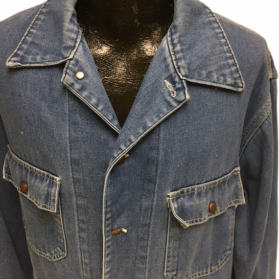 Vintage BiG Mac Men's Blue Jean Barn Coat Distress