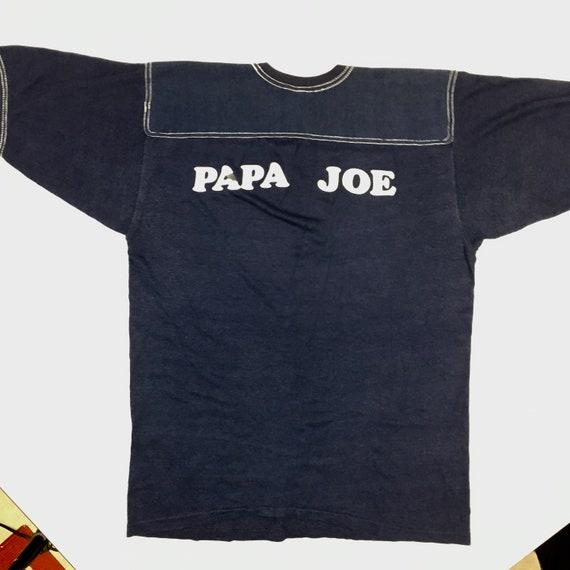 Vtg 50-60's Soffe USA made Blue Stitched PAPA Joe