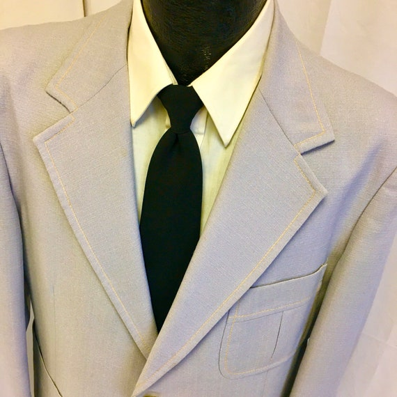Vintage 70's Men's LAVENDER Purple Sport Coat Stit