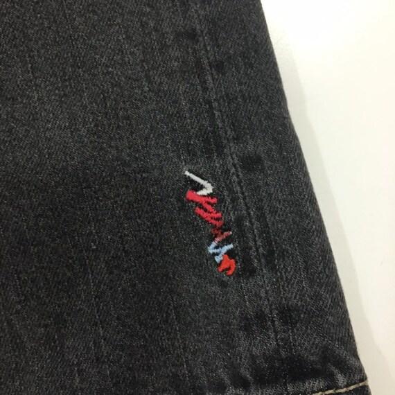 Vintage 90/'s Coogi Men Embroidered PAISLEY Pockets Black Distressed DEMIN HiP HoP OG Baggy Streetwear Skater Long Shorts 38