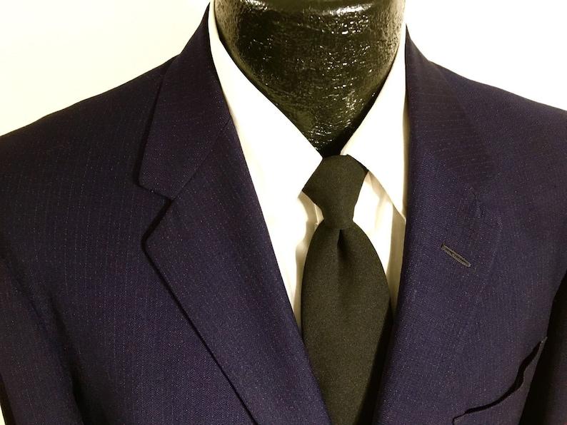 08f87edb7e70 Vintage 50's Men Navy Blue Sport Coat Red Hollywood ATOMIC   Etsy
