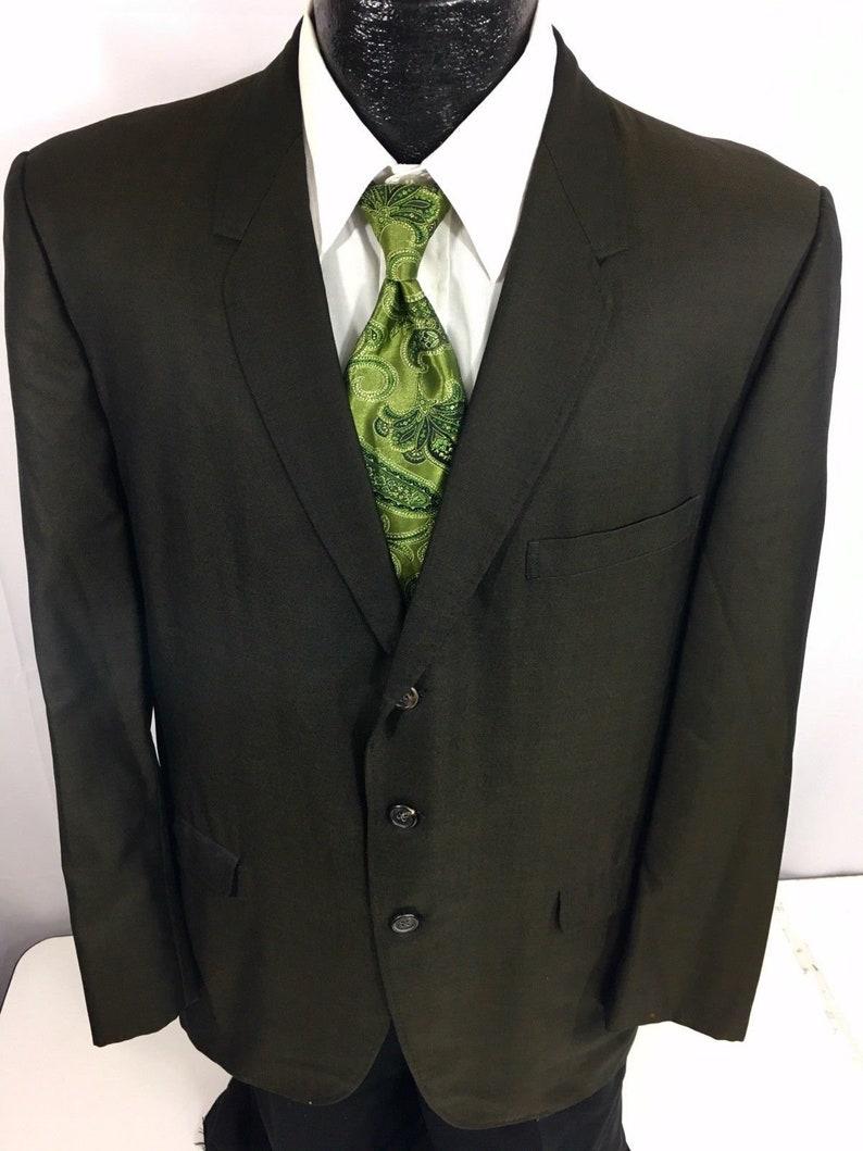 Vintage 50/'s Hart Schaffner Marx Men/'s BESPOKE Sport Coat Rockabilly Black Gold Hipster Jacket SHARKSKIN Blazer 42 R