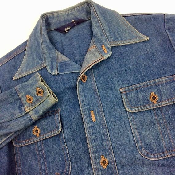 Vintage 70's Men's Blue Jean HIPPIE ROCKSTAR Mod D