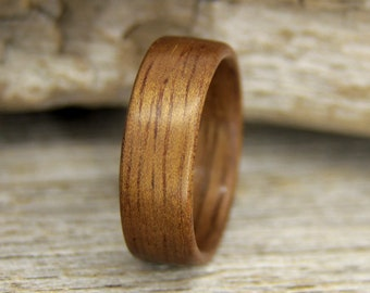 Wood Ring - Size 8 - Walnut Wooden Ring - Ready to Ship Bentwood Ring