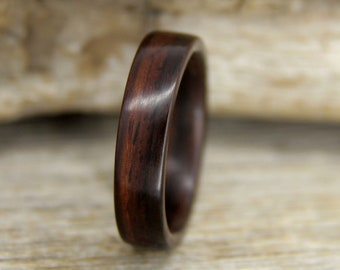 Wood Ring - Size 9.25 - Indian Rosewood Wooden Ring - Ready to Ship Bentwood Ring