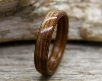 Size 11.75 Ready to Ship Bentwood Ring Wood Ring Black Bean Wooden Ring