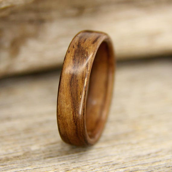 Indian Rosewood and Walnut Wooden Ring Ready to Ship Bentwood Ring Size 8 Wood Ring