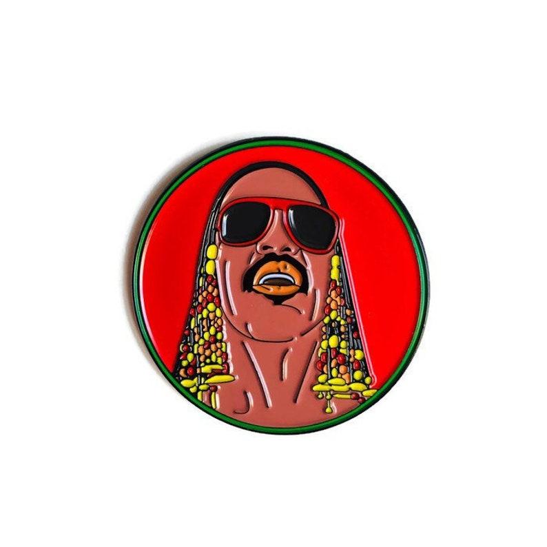 Stevie Wonder  Soft Enamel Pin image 0