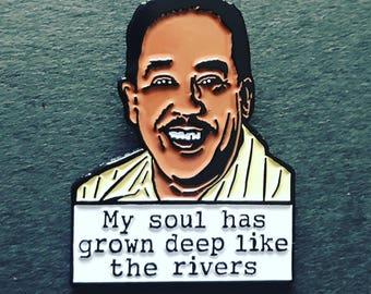 Langston Hughes - Soft Enamel Pin