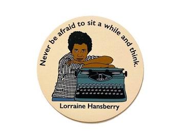 "Lorraine Hansberry -  3"" Circle Vinyl Magnet"