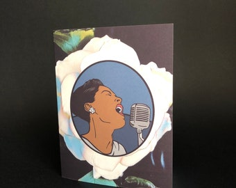 Billie Holiday - Blank Greeting Card A2