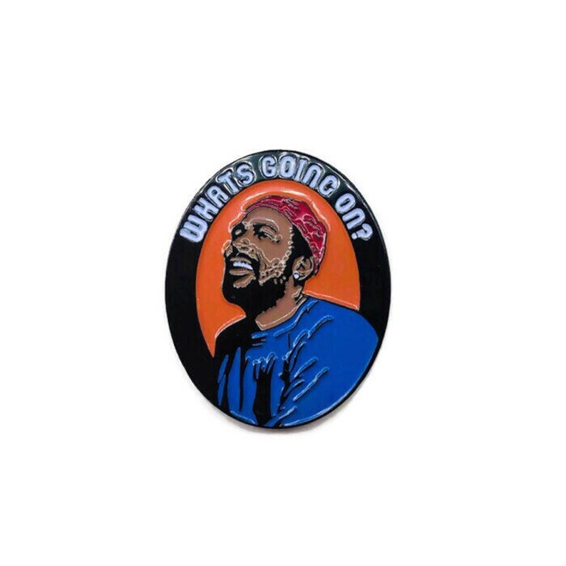 What's Going On  Soft Enamel Pin image 0