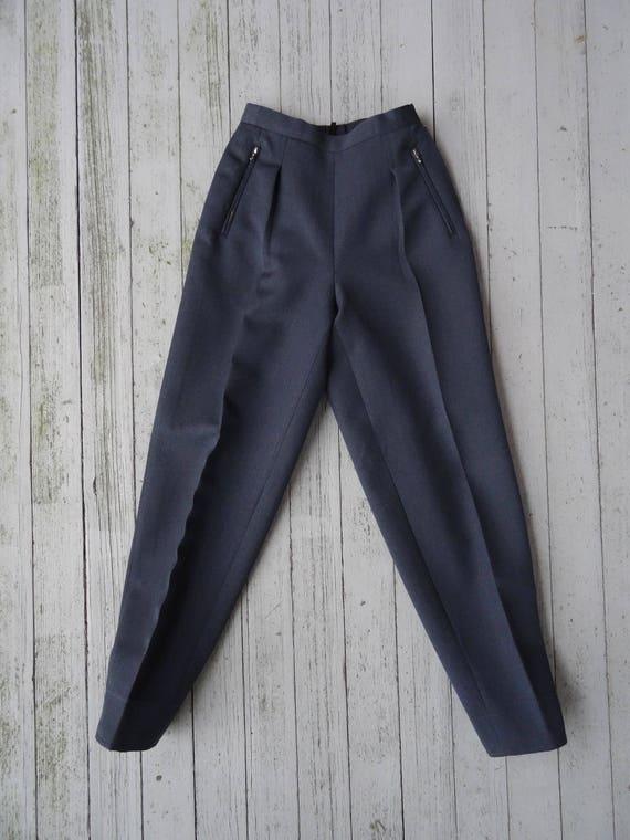 40's Pleated Pants Women's Wool Gabardine Ski Trou