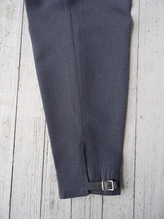 40's Pleated Pants Women's Wool Gabardine Ski Tro… - image 5