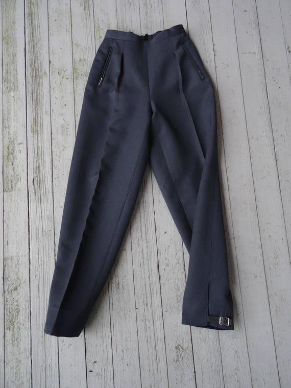 40's Pleated Pants Women's Wool Gabardine Ski Tro… - image 8