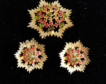 sarah coventry brooch and earrings