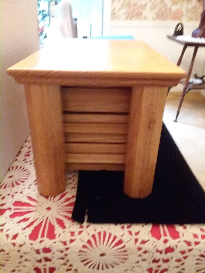 Beautiful handmade wood jewelry box