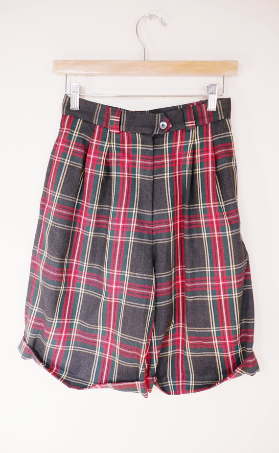 Vintage WoolLaine red plaid of Bermuda shorts from Talbots size 10 From Talbots