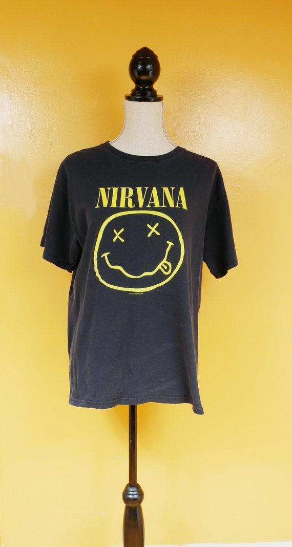 Nirvana Smiley Face Single Stitch T Shirt