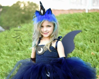 Princess Luna Tutu Dress Birthday Photo Prop HalloweenPrincess Costume Unicorn My Little Pony