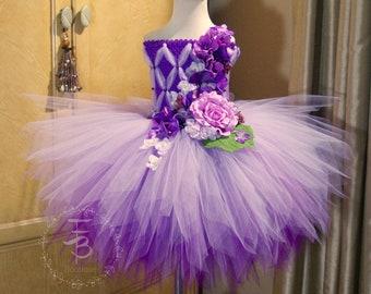 746ce5340 Fairy Tutu Dress, Birthday, photo prop, Halloween, Lilac Tutu dress,  Lavender Tutu Dress, Fairy Costume, Ombre Tutu Dress