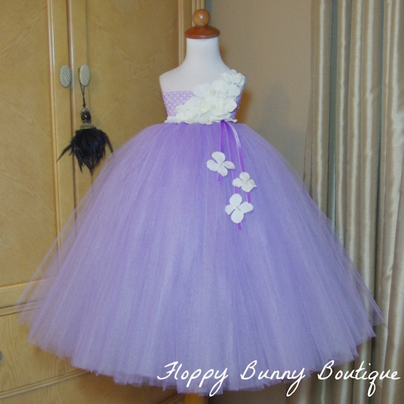 Lavender And White Tutu Dress Flower Girl Birthday Wedding