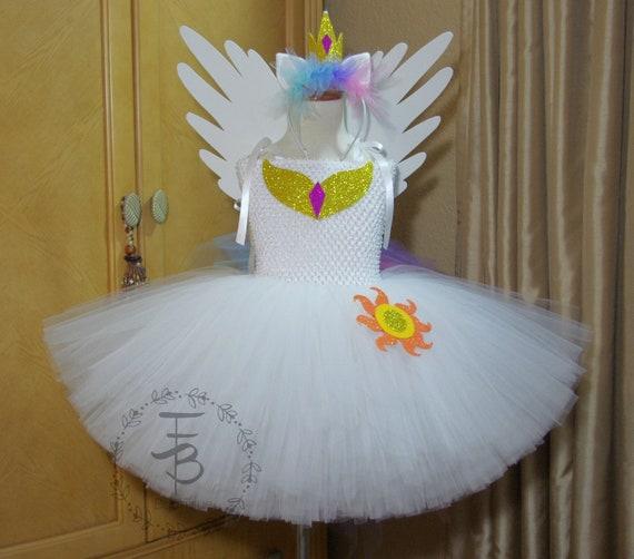 Princess Celestia Tutu Dress Birthday Photo Prop Halloween