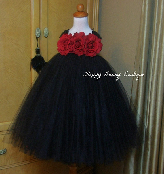 1b5726c2723 Black and Red Tutu Dress  Flower Girl