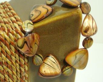 Paua Shell Triangle Bracelet
