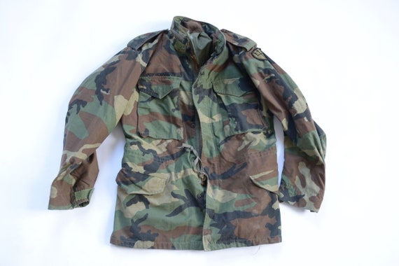 Vintage Military M 65 Infantry Camouflage Jacket S