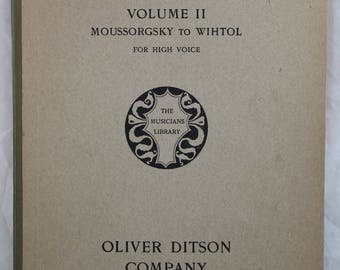 Modern Russian Songs Piano, Volume 2. Mussorgsky to Wihtol. For High Voice