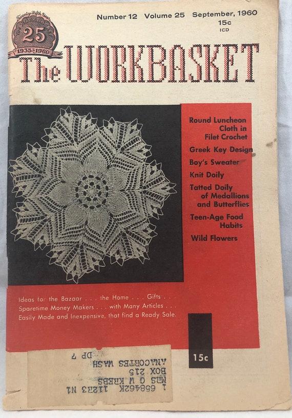 Workbasket Magazine Home Needlecraft Projects Vintage Etsy