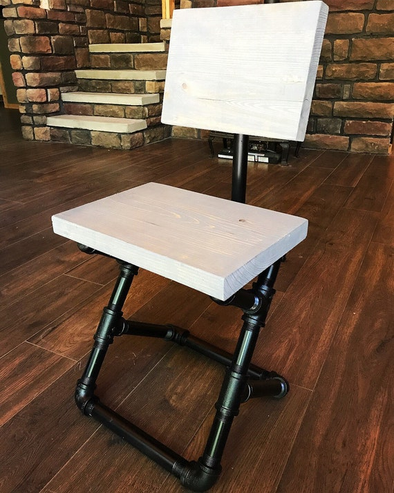 Astounding Custom Finishes Black Pipe Chair Industrial Decor Pipe Furniture Dining Room Chair Desk Chair Creativecarmelina Interior Chair Design Creativecarmelinacom