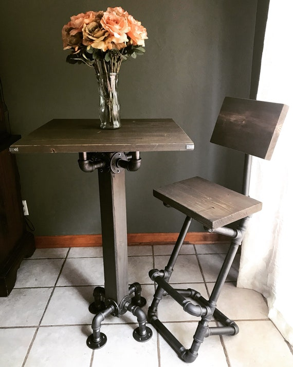 Admirable Industrial Iron Pipe Bar Stool Bar Stool With Back Pipe Furniture Steampunk Decor Industrial Farmhouse Evergreenethics Interior Chair Design Evergreenethicsorg