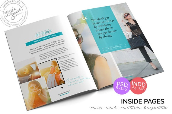 10 Page Ebook Template Indesign Indd Photoshop Psd Instant Download