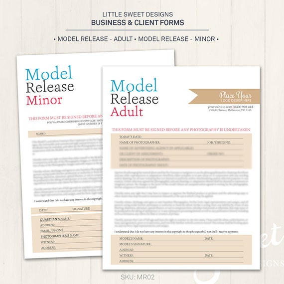 Adult model release forms 6