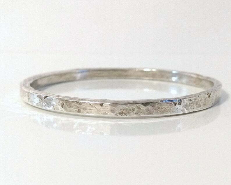 Layering Bracelet Solid Heavy 925 Silver Stacking Bracelet Hammered Silver Sterling Silver Bangle Bracelet Solid Silver Bangle