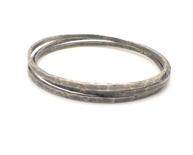 fbd799da981 Fine Silver Hammered Bracelets 999 Solid Silver Artisan   Etsy